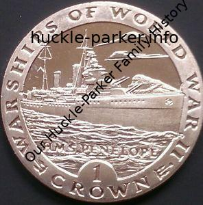 "Comemorative coin for Gibralter showing ""Hms Penelope"" 1993 (1 crown)"