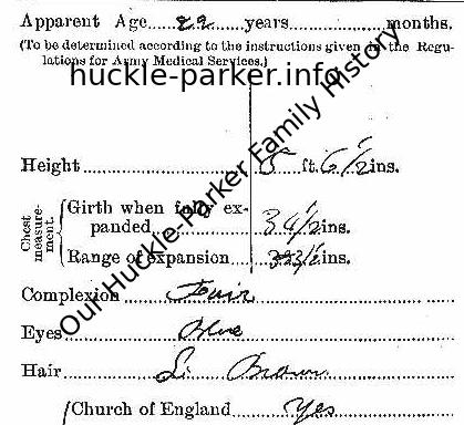 Description from enlistment papers 1914 aged 22